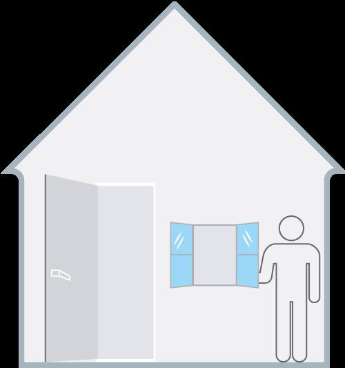 generatore di ozono icona casa